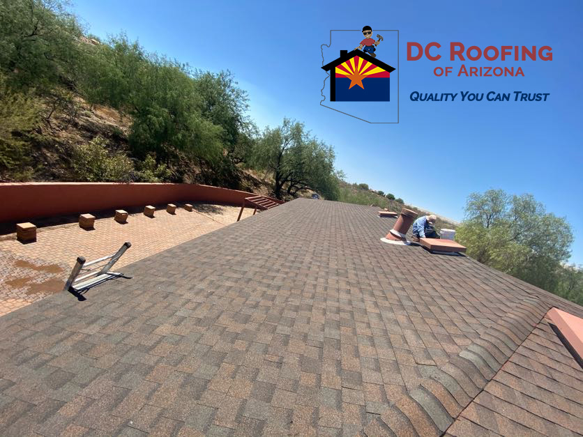 Tucson home gets new asphalt shingle roof by DC Roofing of Arizona